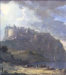 Edinburgh Castle with Nor' Loch in foreground