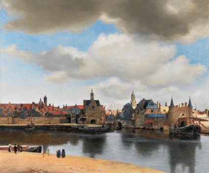 View of Delft by Johannes Vermeer, 1660–1661